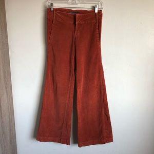 Joe's Jeans Rust Velour Velvet Pants 25 x 34